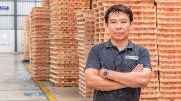 Pichit Chiamcharoen, the manager of Pallet Maker Group Co.