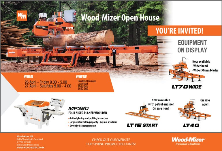 Wood-Mizer To Present Sawmilling & Woodworking Machinery At